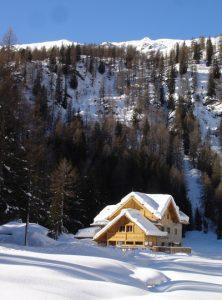 Rifugio Nambino panorama invernale